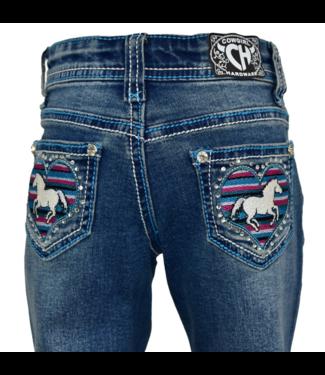Cowboy Hardware Toddler Serape Heart Horse Jeans