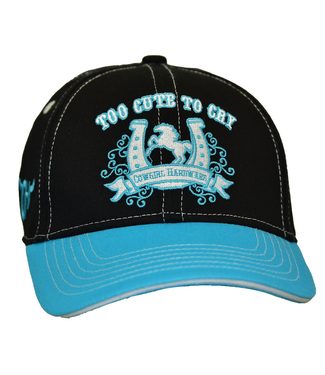 Cowboy Hardware Toddler Too Cute To Cry Velcro Cap