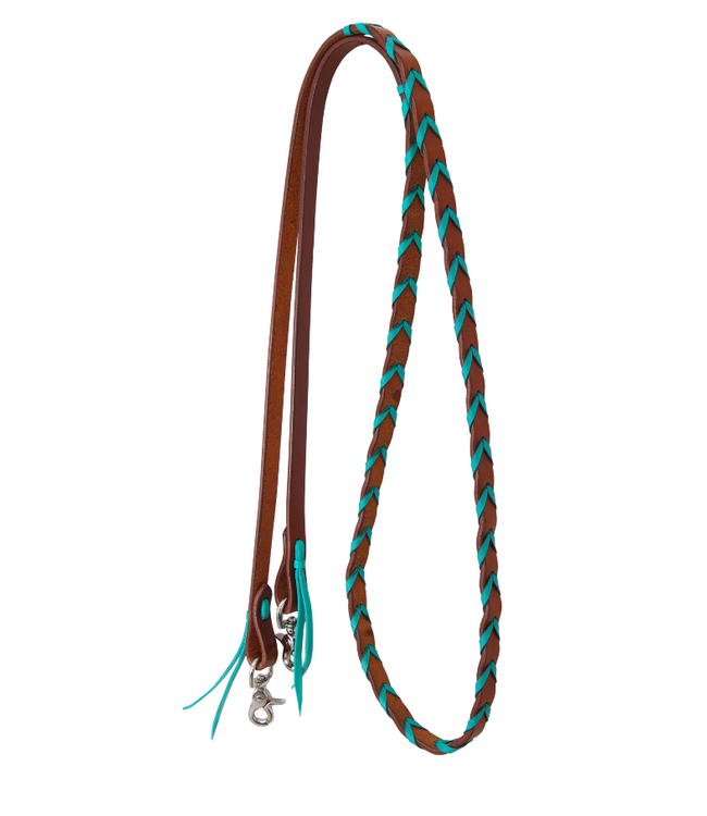 Rafter T Ranch Co. Leather Laced Barrel Rein