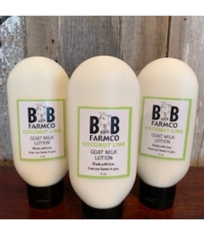 B and B FarmCo Coconut Lime Goat Milk Lotion - 4 oz