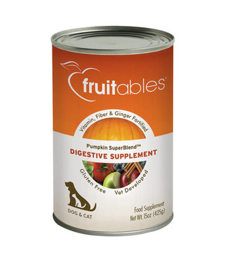 Fruitables Pumpkin SuperBlend Digestive Supplement for Dogs and Cats