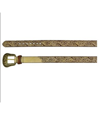 Catchfly Catchfly Ladies Belt Warm Metallic Tooling