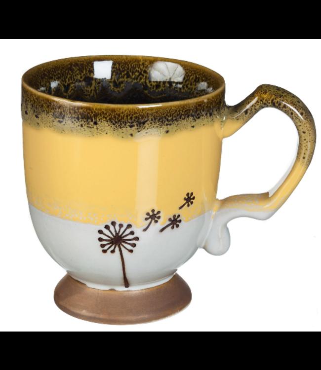 Evergreen Enterprises Drifting Dandelion Artisan Series Ceramic Cup