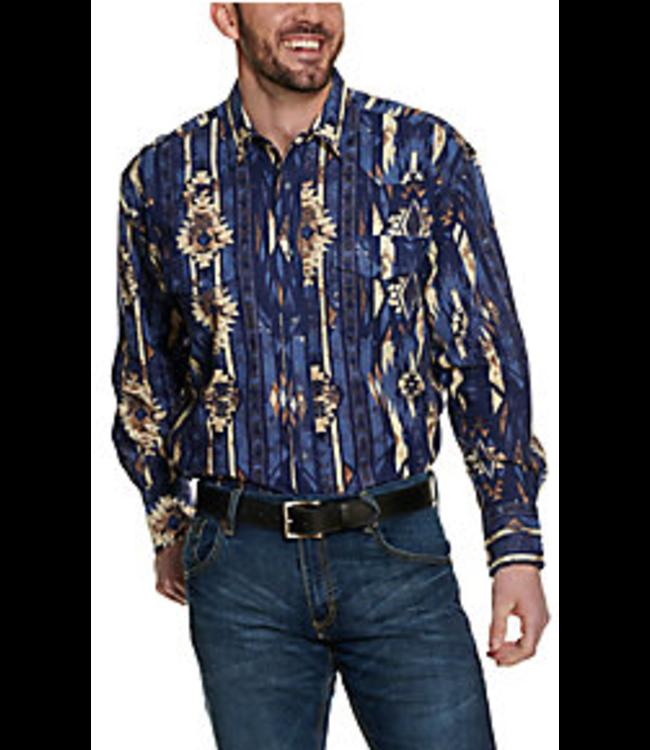 Wrangler Checotah Dark Indigo Aztec Print Shirt