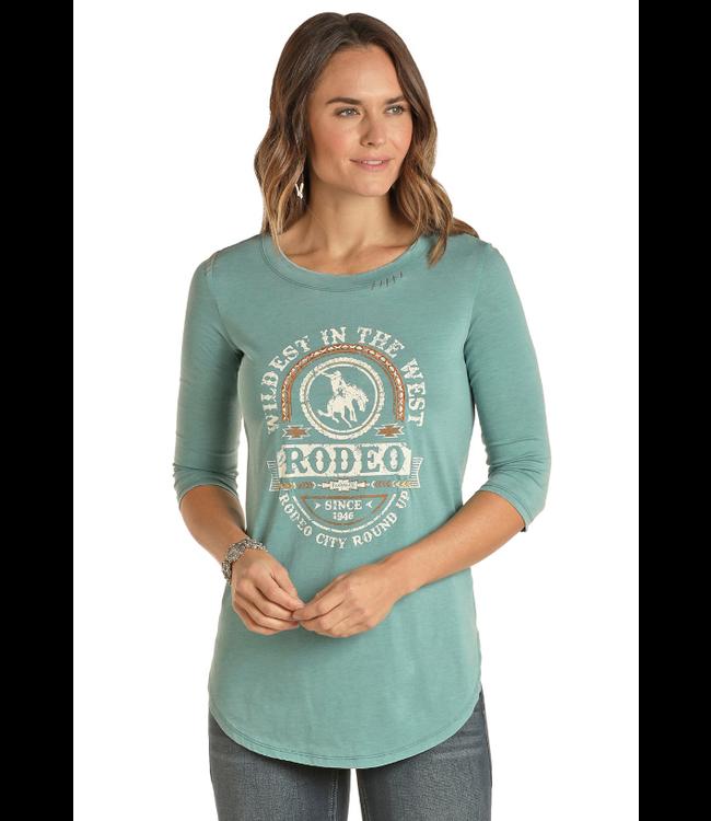 Panhandle Slim Ladies Wild Rodeo 3/4 Sleeve Top