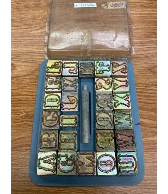 "Vintage Craftool Standard 1"" Alphabet Set"