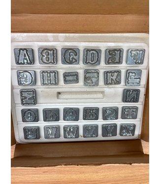 "Vintage Craftool Standard 3/4"" Alphabet Set"