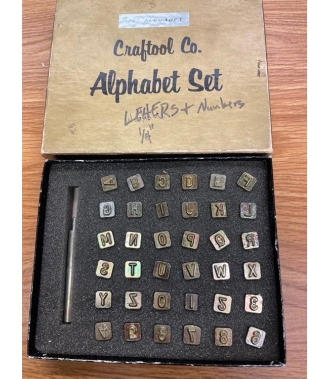 "Vintage Craftool 1/4"" Alphabet Set"