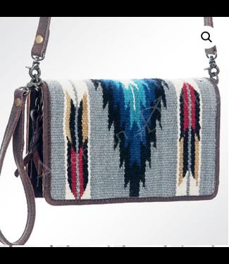 Small Woven Aztec Wool Crossbody/Wristlet