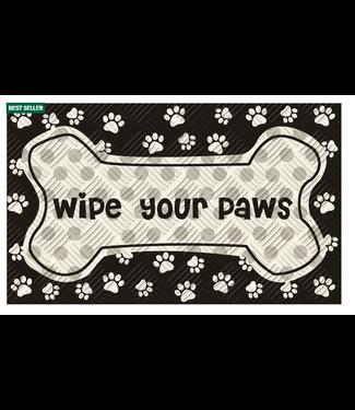 Evergreen Enterprises Wipe Your Paws Embossed Floor Mat
