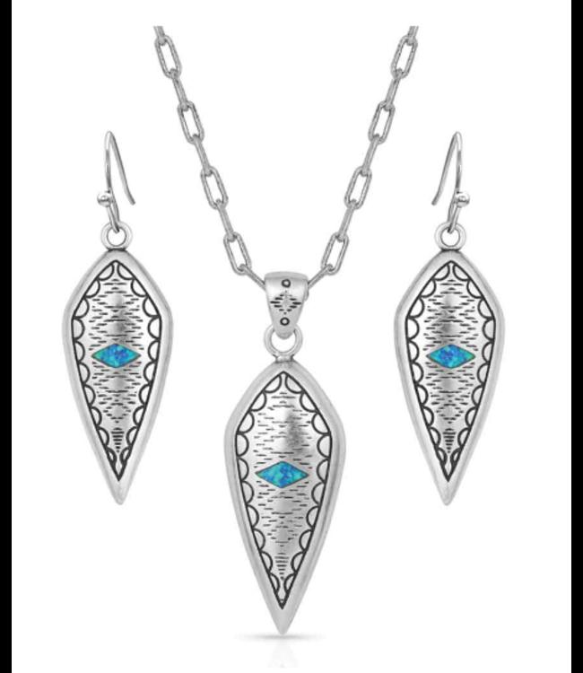Montana Silversmith Scalloped Opal Jewelry Set