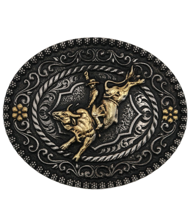 Montana Silversmith Attitudes Buckle Polished Bull Rider