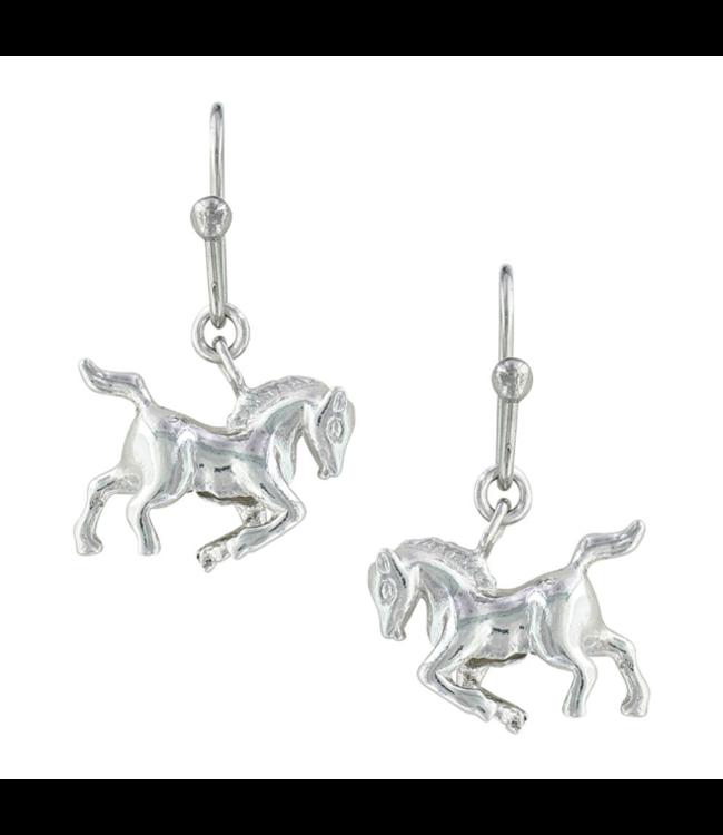 Montana Silversmith Cowboy Way Horse Earrings