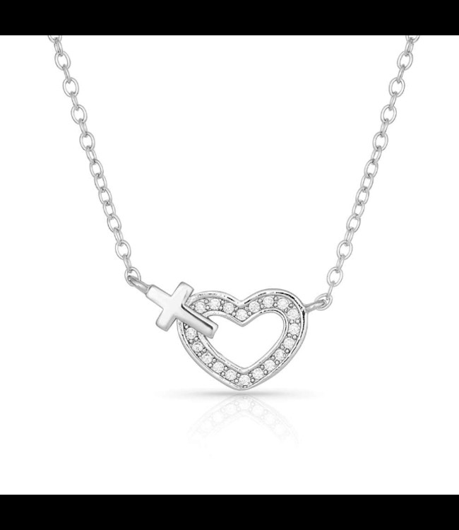 Montana Silversmith Faith's Heart Necklace