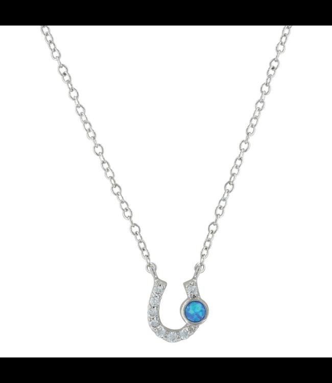 Montana Silversmith Lightfoot Horseshoe Necklace Opal