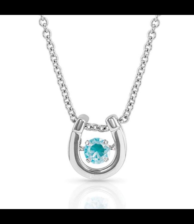 Montana Silversmith Dancing Birthstone Horseshoe Necklace
