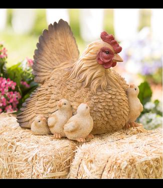 Evergreen Enterprises Hen with Chicks Garden Sculpture