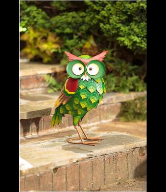 Evergreen Enterprises Metal Ollie The Owl Garden Statue