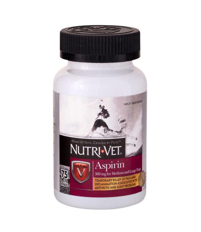 Nutri-Vet Aspirin for Dogs Medium/Large Dog, 75's