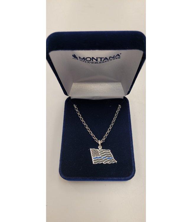 Montana Silversmith Thin Blue Line Necklace