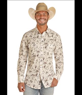 Panhandle Slim Wild West Print Button Up