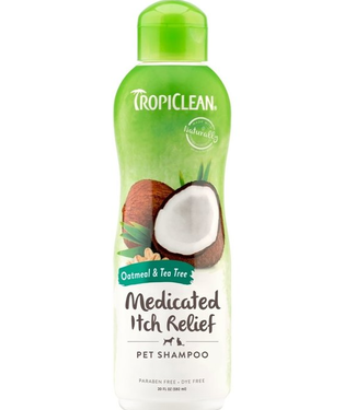 TropiClean Medicated Itch Relief Shampoo for Pets