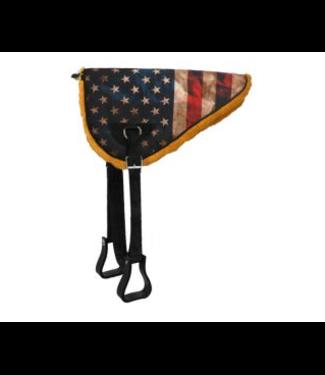 American FLag Design Bareback Pad w/ Fleece and Stirrups