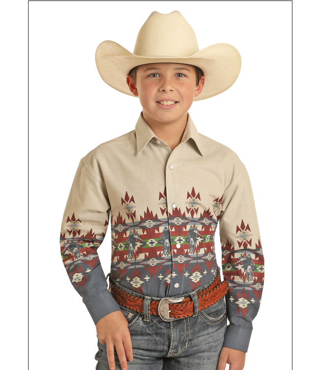 Panhandle Slim Bull Rider Long Sleeve Button Up