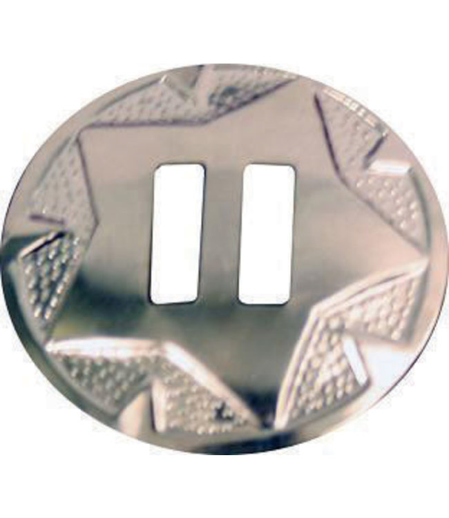 """1-1/4"""" Star Slotted Concho"""