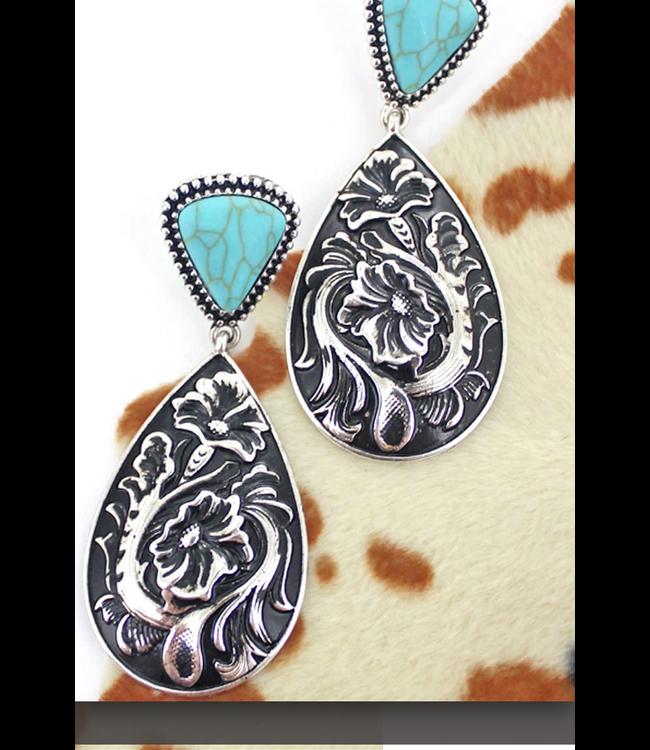 Fleurs Park Turquoise Earrings