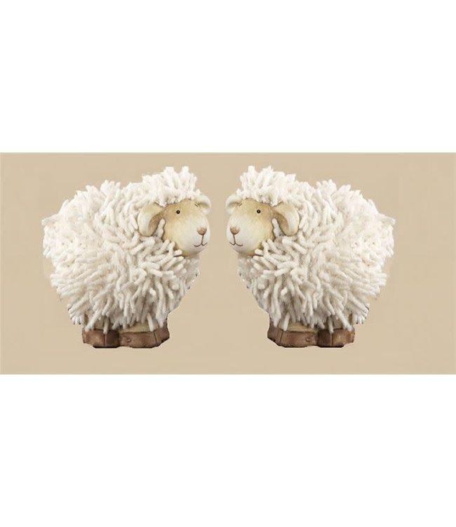 """Delton 2.8"""" Ceramic Shaggy Sheep"""