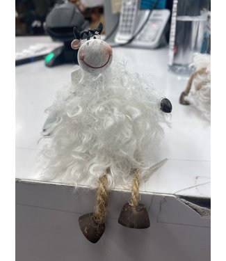 Delton Sitting Puff Cow with Rope Legs
