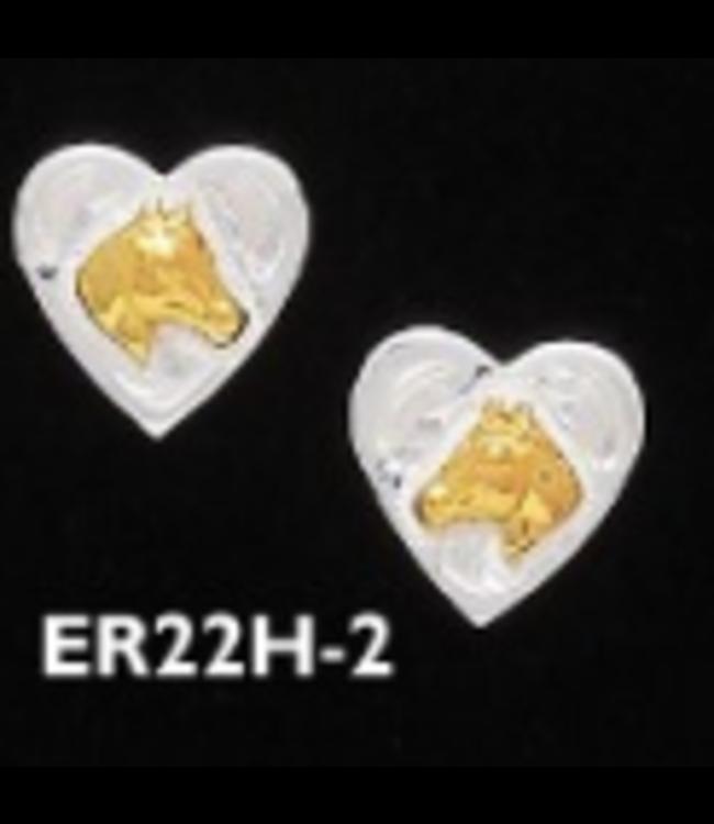 Heart Earring W/ Horse Head