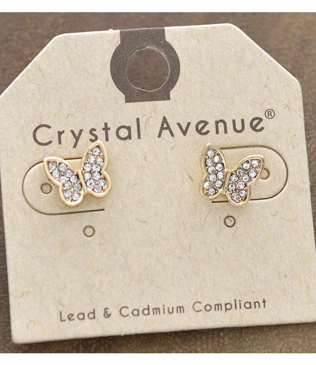 Butterfly Stone Post Earings
