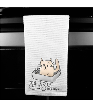 Dasha Alexander Trying to Get my Shit Together Microfiber Towel