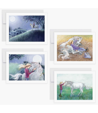 'Jump The Moon' Set of 8 Notecards