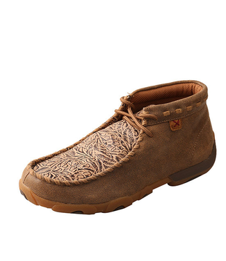 Twisted X Women's Chukka Driving Moc -Bomber and Nude Print