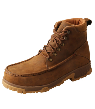 """Twisted X Men's 6"""" Work Boot -Distressed Saddle"""