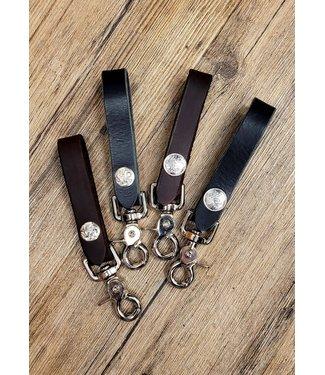 Beyond the Barn Leather Clip Keychain w/ Concho BTB