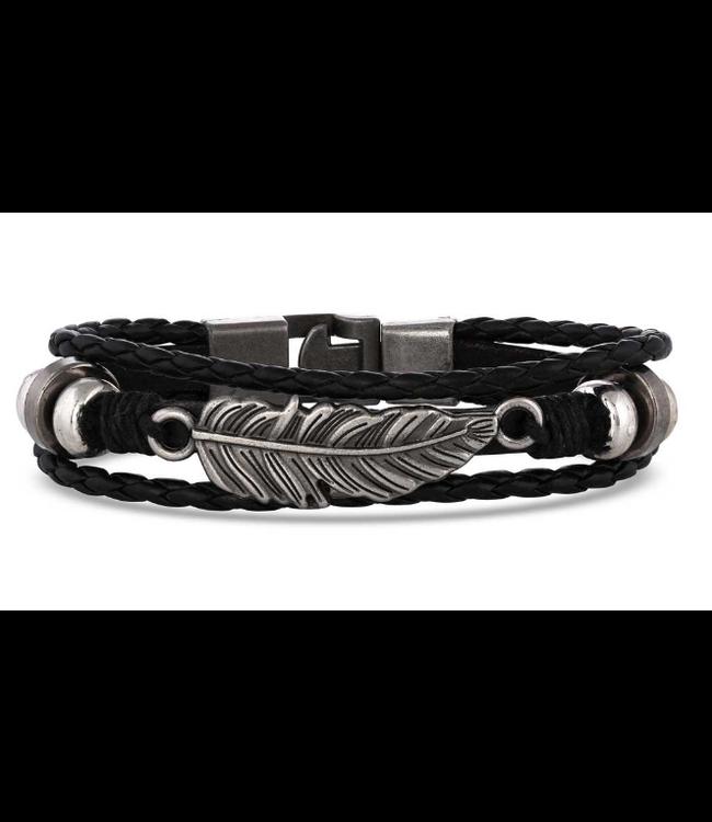 Montana Silversmith Braided Wrap Feather Bracelet