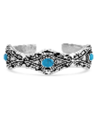 Montana Silversmith Silver Aztec Turquoise Cuff Bracelet