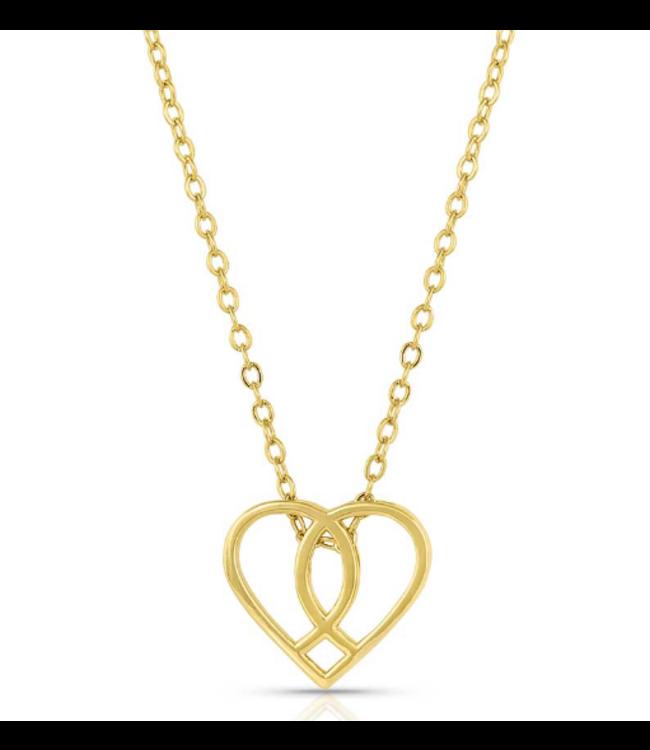 Montana Silversmith Connected Faith Heart Necklace