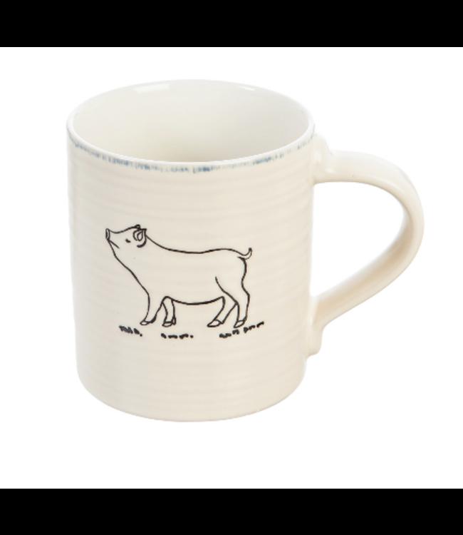 Evergreen Enterprises Ceramic Cup, 16 Oz, Farmhouse