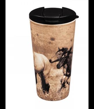 Evergreen Enterprises Wild Chestnut Ceramic Coffee Cup, 17 Oz.