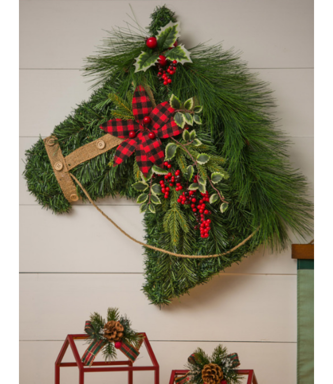 Evergreen Enterprises Holiday Horse Hanging Wall Decor
