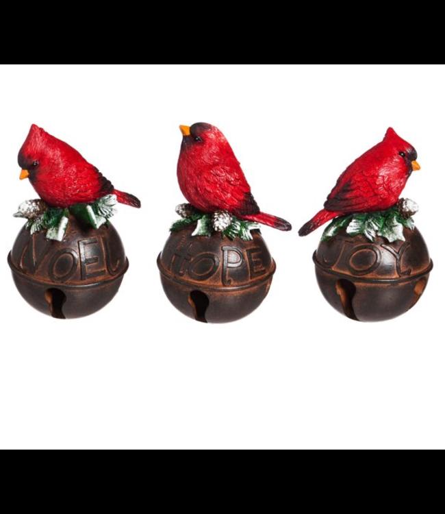 Evergreen Enterprises Cardinal on Bell Decor Assorted