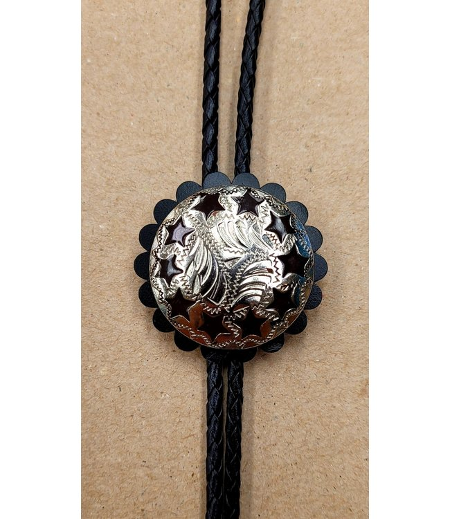 Beyond the Barn Bolo Tie BTB Etched Stars