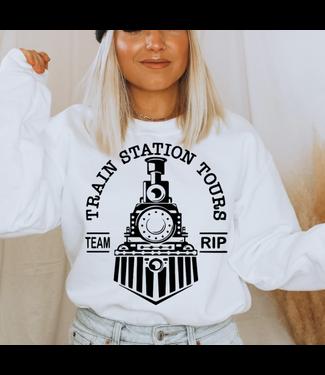 The Motherload of Tee's Train Station Tours Crewneck Sweatshirt
