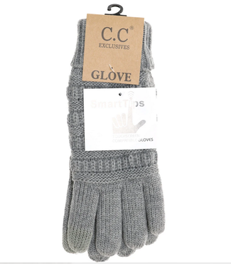 C.C Knit CC Gloves with Lining G25