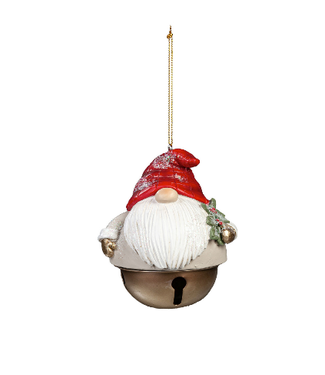Evergreen Enterprises Polyresin Winter Gnome Bell Ornament